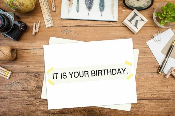 It Is Your Birthday Birthday Card The Office Dwight Bday Cards Funny Note Card Greeting Card Blan It S Your Birthday Card Envelopes Blank Cards