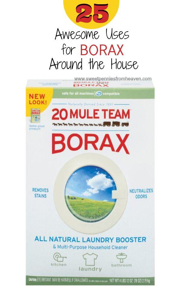 25 Awesome Uses for Borax Around the House. Love borax!