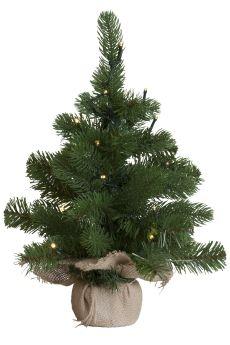 Juletre med 20 ledlys 45cm