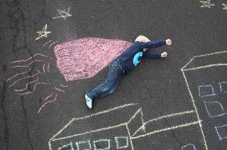 Miss AD: Leg med kridt - blev til streetart