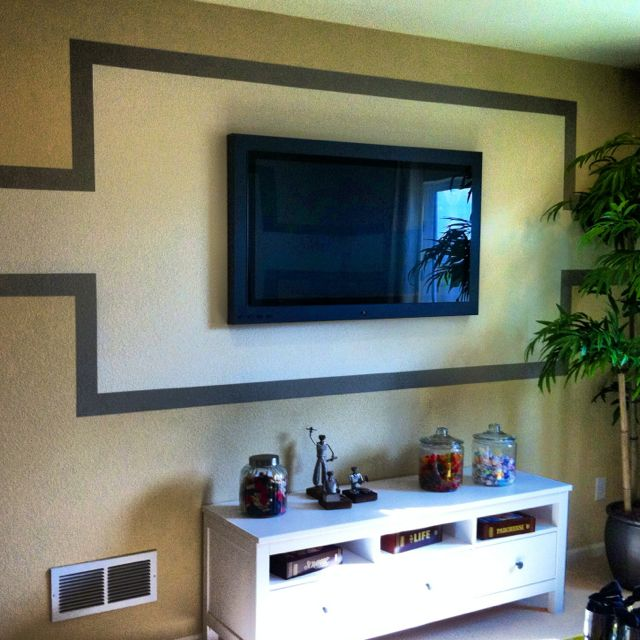 This frame around the flat screen TV was painted. | For the Home ...