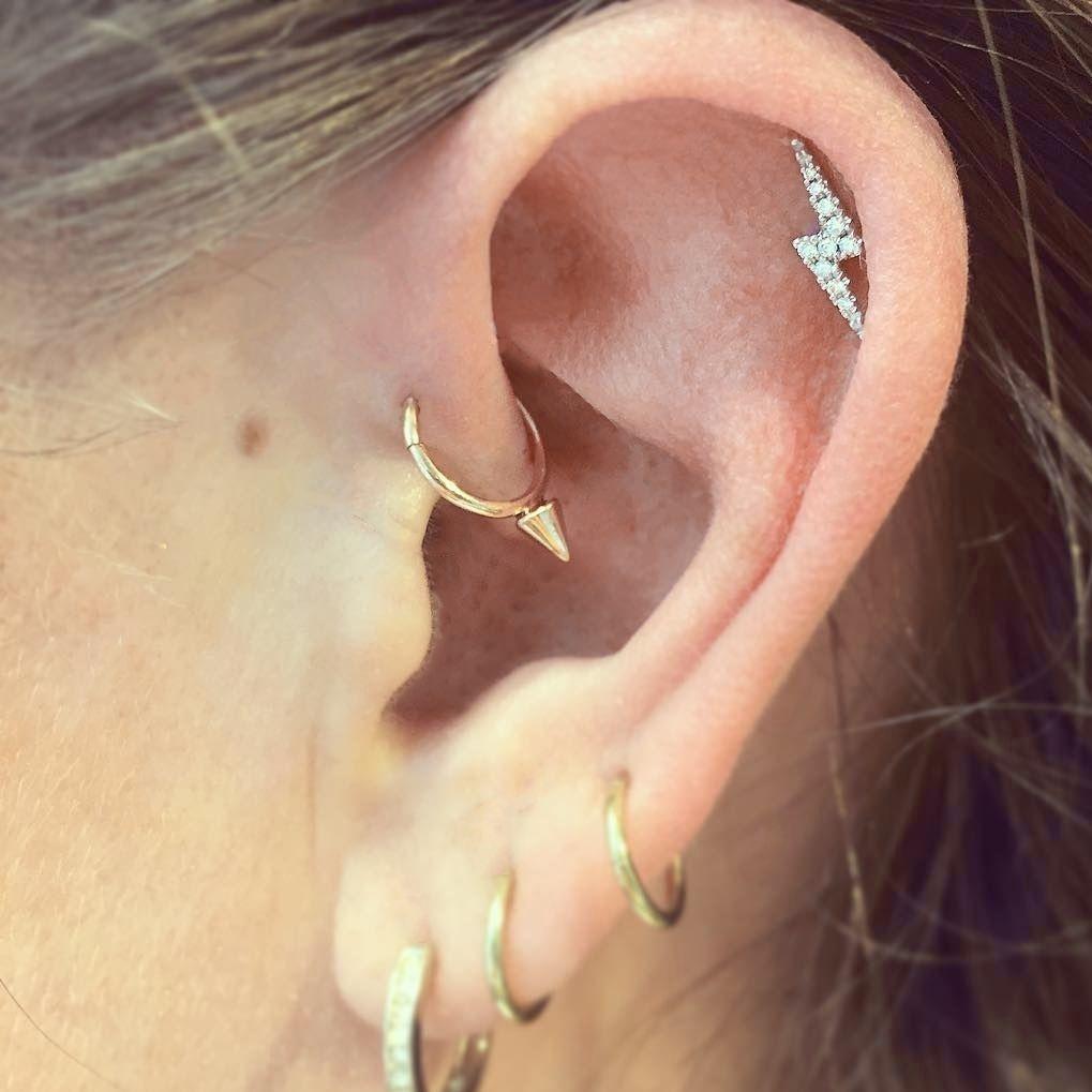 38cb677d0 Lightning Bolt Earrings Maria Tash – Inspirational Lighting Design ...