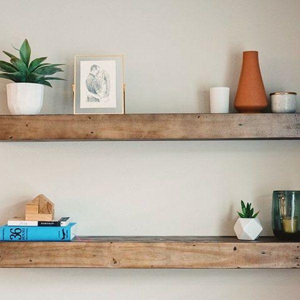 Reclaimed Wood Floating Shelf 4 Bedroom In 2019