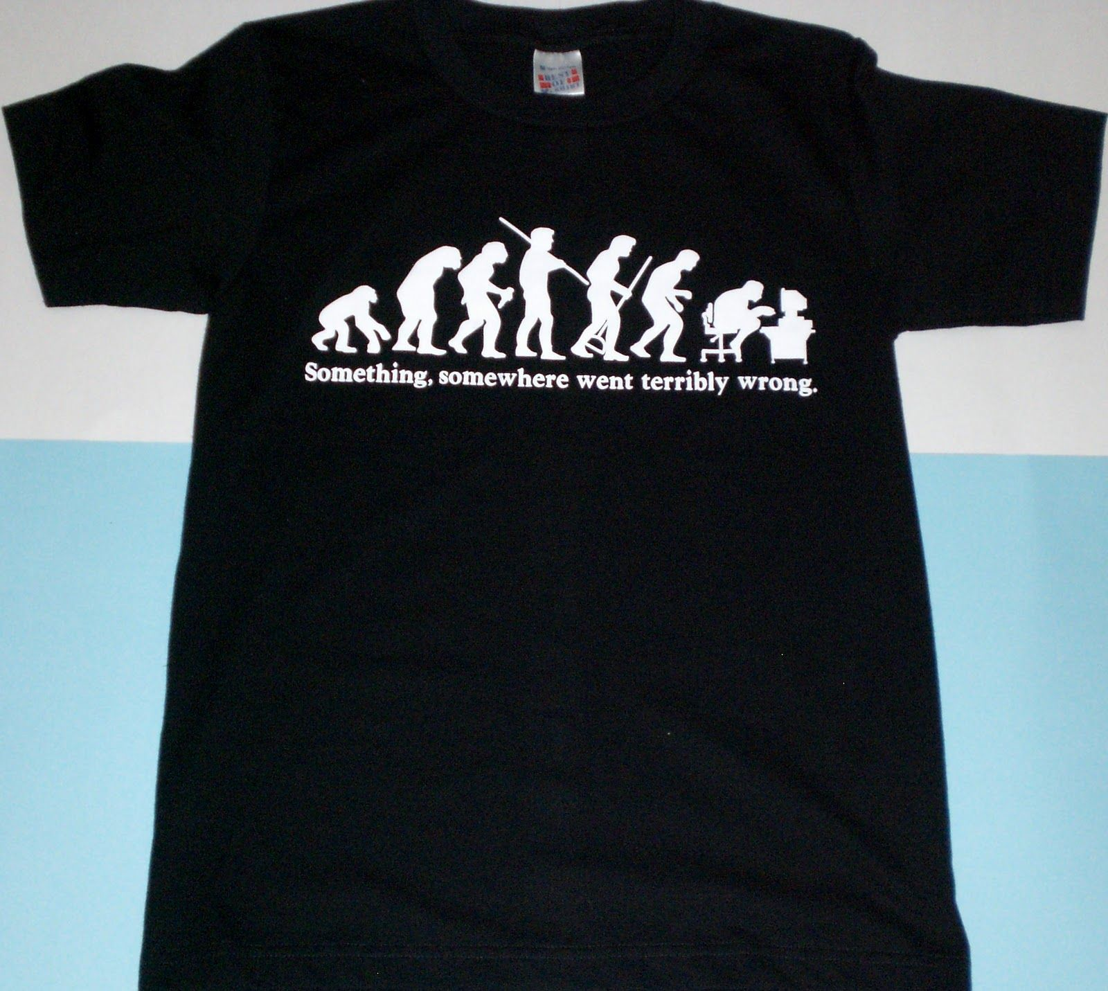 Evolution: something's gone wrong... | Humor Tshirts & clothes ...