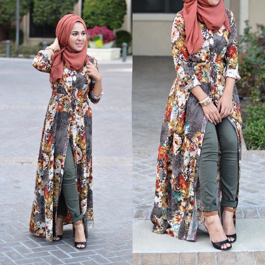 Cute look F A L L dress from @dirfashion | Muslim outfits ...