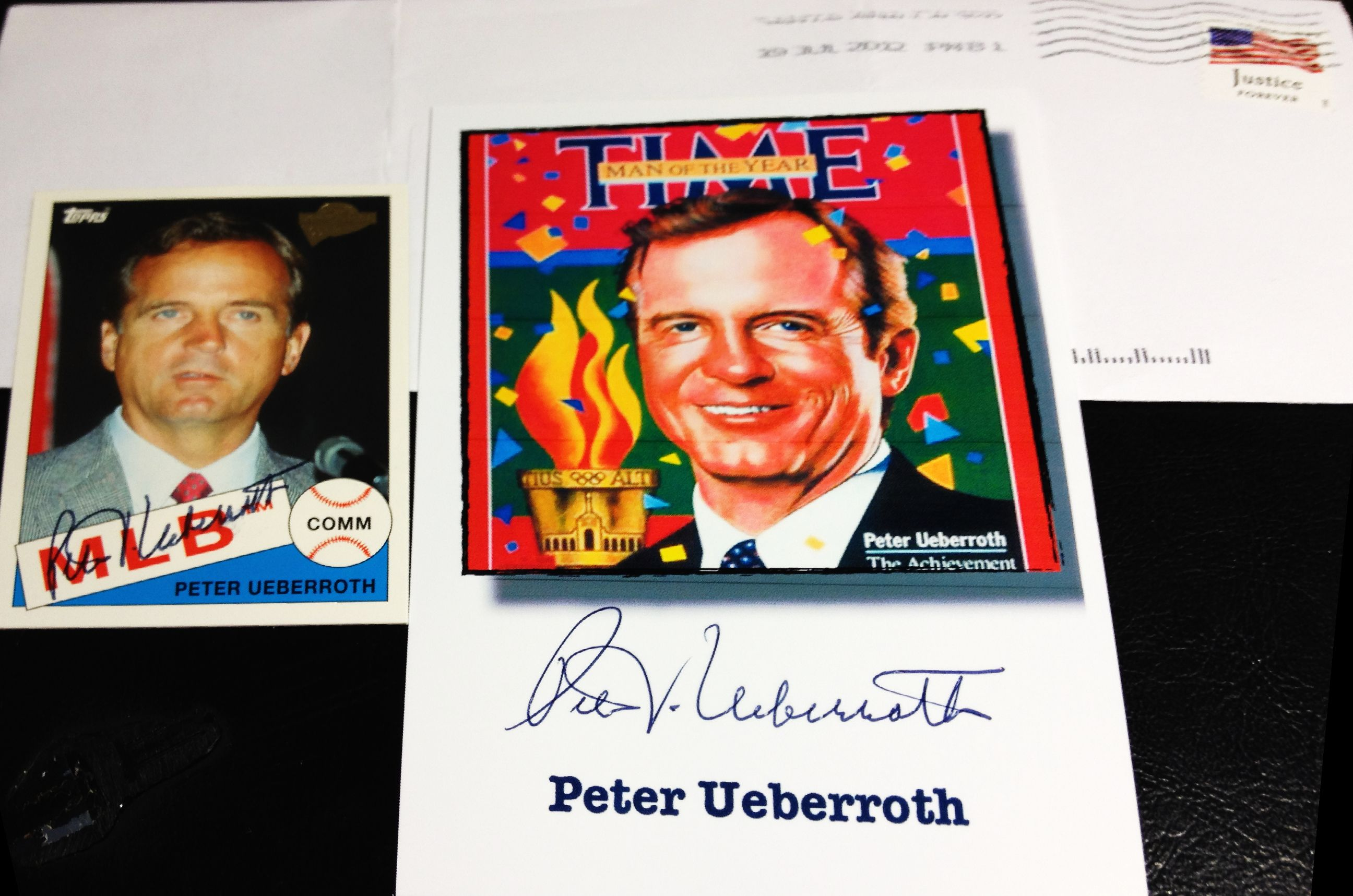 Peter Ueberroth Ttm Baseball Cards Book Cover Autographs