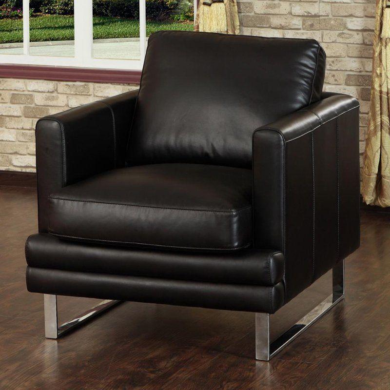 Lazzaro Leather Melbourne Dark Chocolate Chair - WH-1003 ...