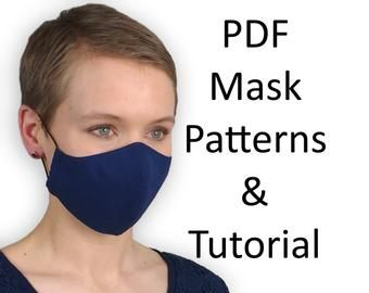 Photo of Face Mask with Pocket Sewing Pattern; 2 sizes PDF Sewing Pattern; Instant PDF download pattern; Simple sewing pattern| www.BLHandmade.com