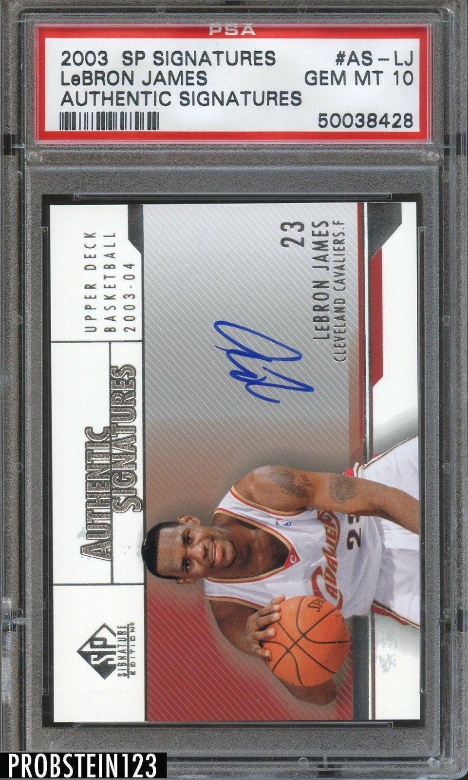 200304 sp signatures lebron james cavaliers rc rookie