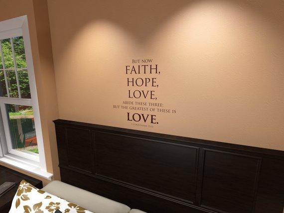 1 Corinthians 13 13 Wall Decal Wall Decals Textured Wall Vinyl Wall
