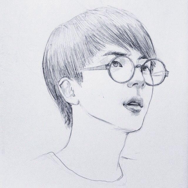 Bts Jin Fanart Desenhos A Lapis Desenho A Lapis