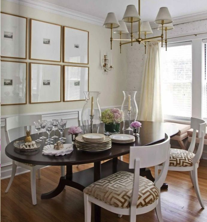 Suzie Wendy Labrum Interior Design Elegant French Dining Room With Ivory Walls Paint Color