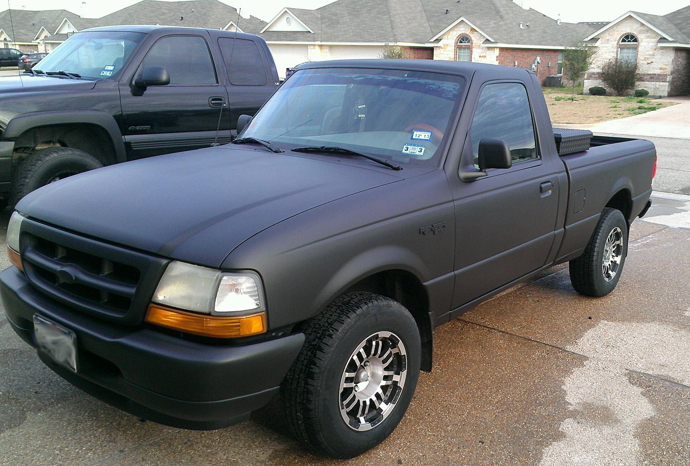 Sunday Project Plasti Dipped My Ford Ranger The Results Were Amazing Ford Ranger Plasti Dip Car Ranger