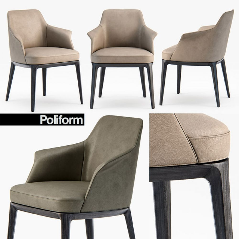 Poliform Sophie Armchair 3d Model