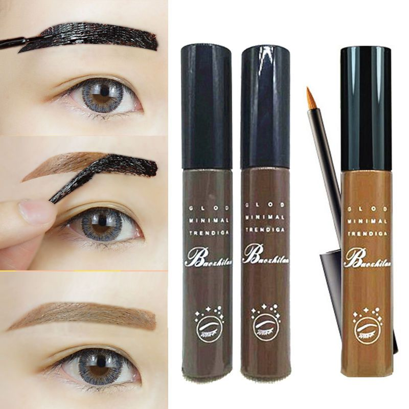 Eyebrow Gel Waterproof Long Lasting Tattoo Brush Kit Eye Tint Brow