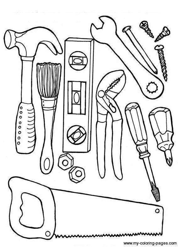 Construction Worker Tool Bag Items Father S Day Printable