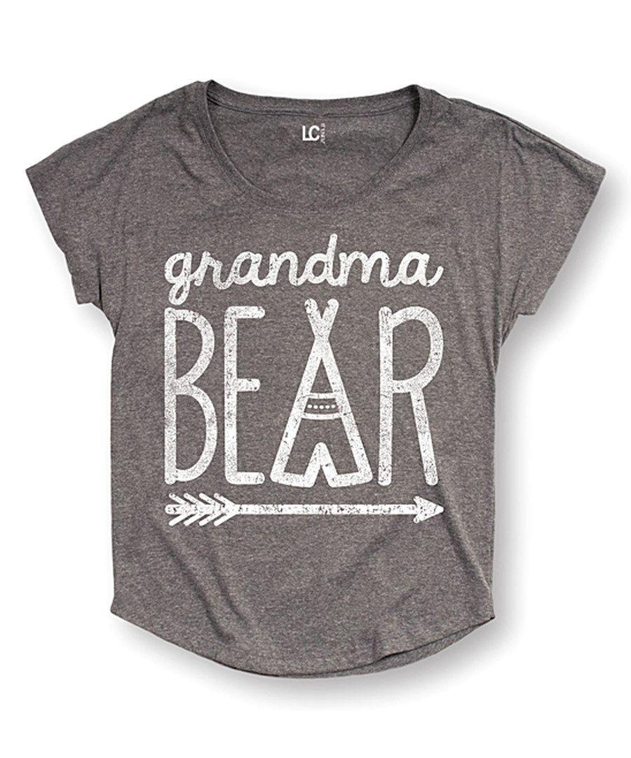 7bfdfd7c Look at this Athletic Heather 'Grandma Bear' Dolman Tee - Women ...