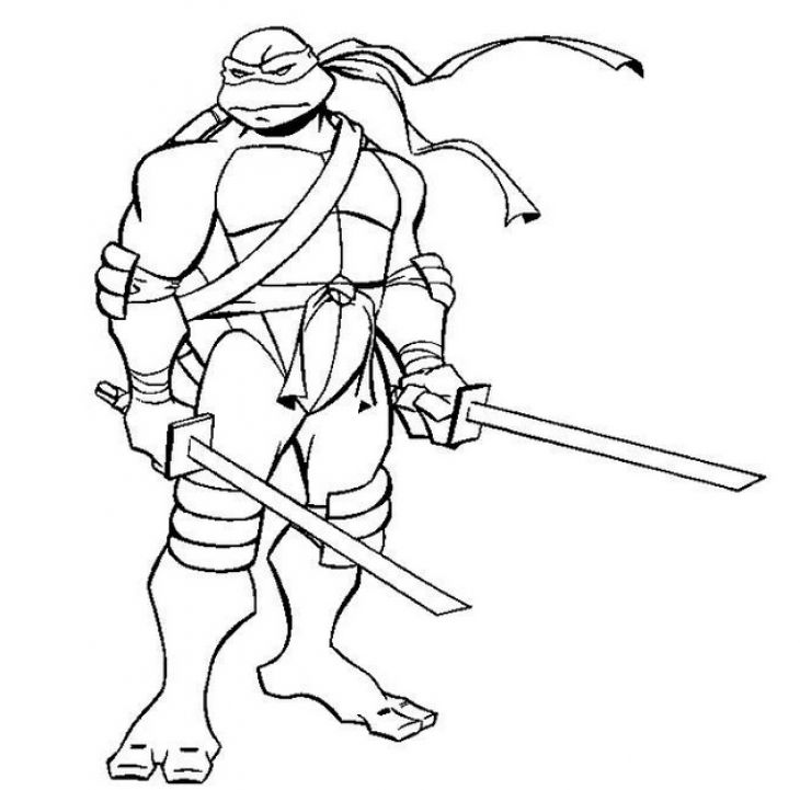 Free Leonardo ninja turtles coloring page Superheroes Coloring