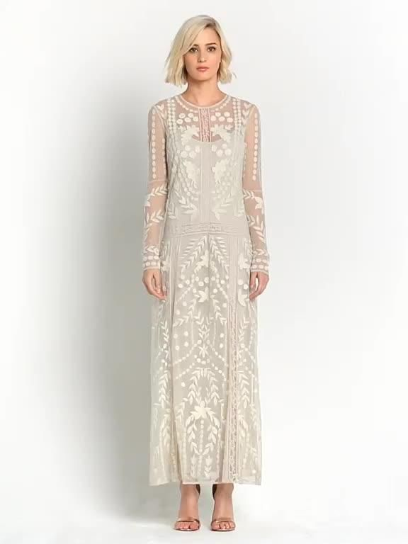 Alternative wedding dress? Miss Selfridge Embroidered Maxi Dress ...