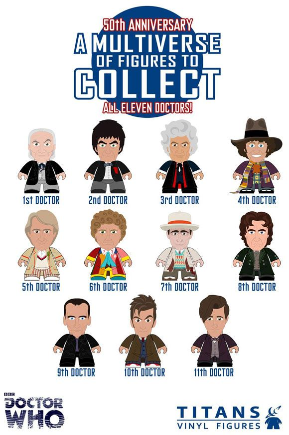 50th Anniversary Titan Mini figures : All 11 Doctors