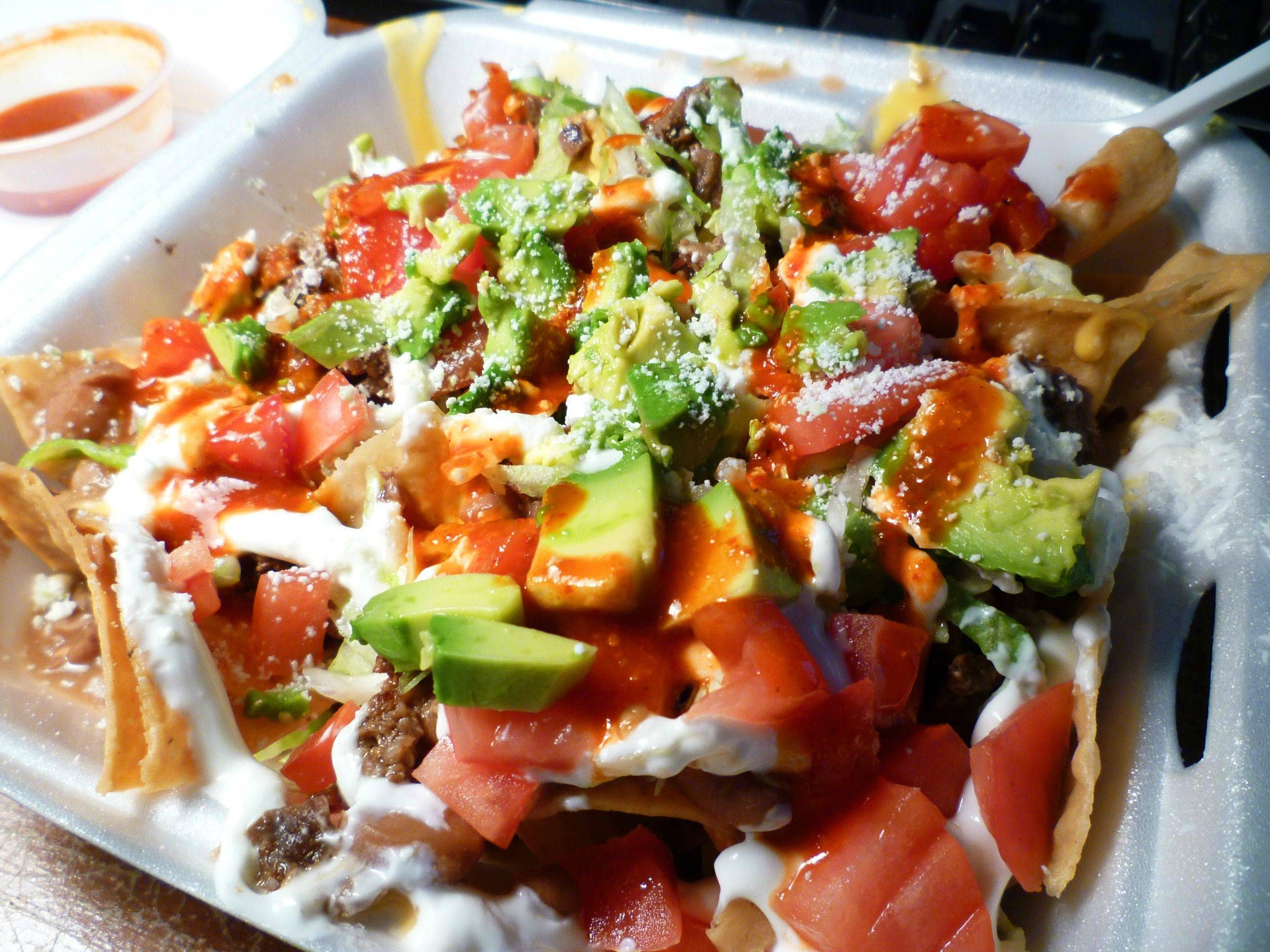Nachos Supreme From Mariellas Tacos In La Nachos Supreme Cooking Recipes Nachos