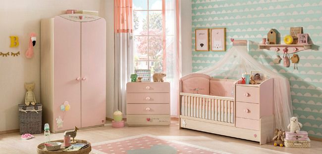 Baby Girl muebles para habitación de bebé niña | Habitaciones de ...