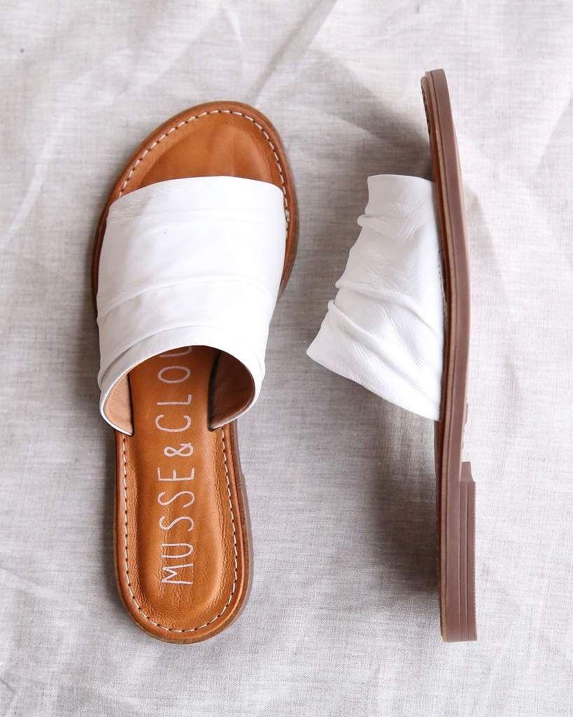 Sandal White Mule Wht Cloud Flat Kennice Leather In Musseamp; En dthrxCsQB