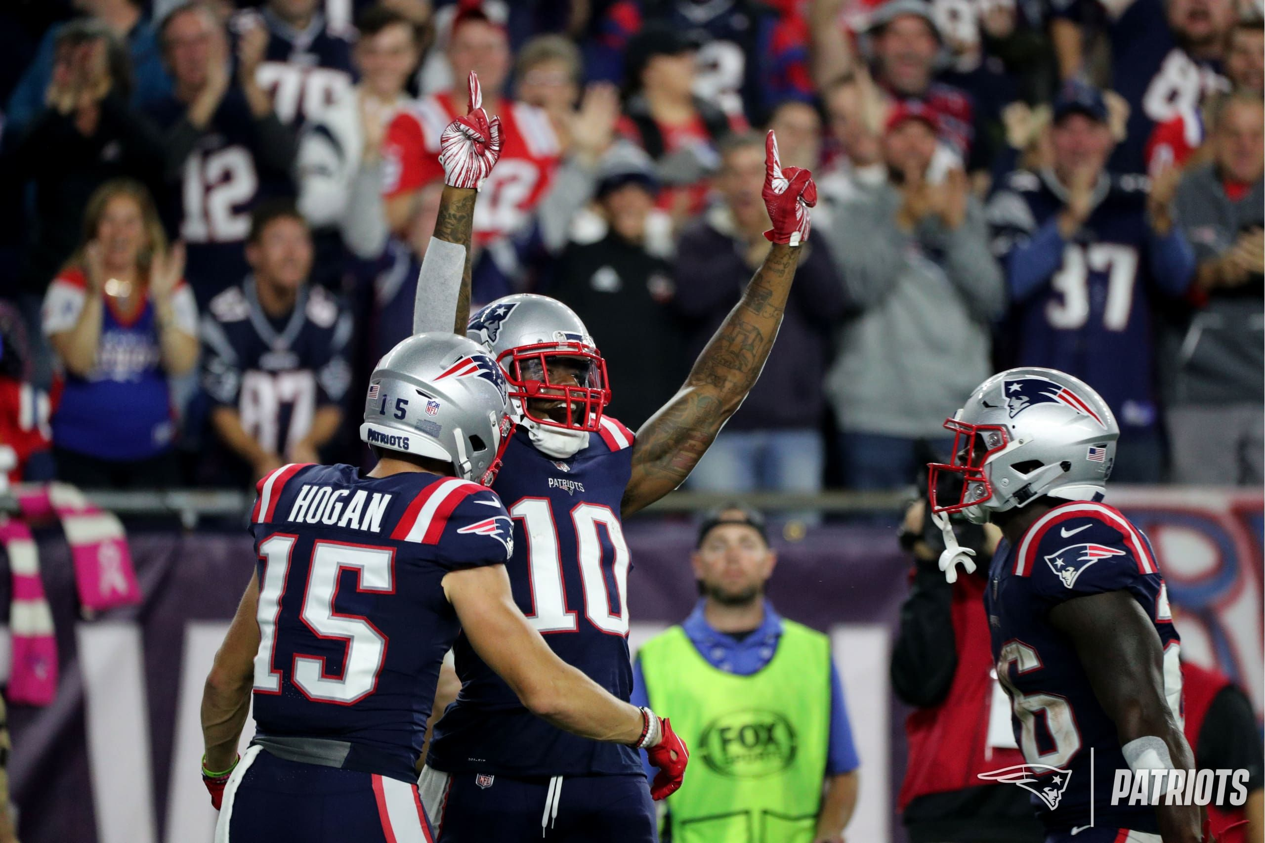 Chris Hogan Josh Gordon And Sony Michel New England Patriots Patriots Best Games