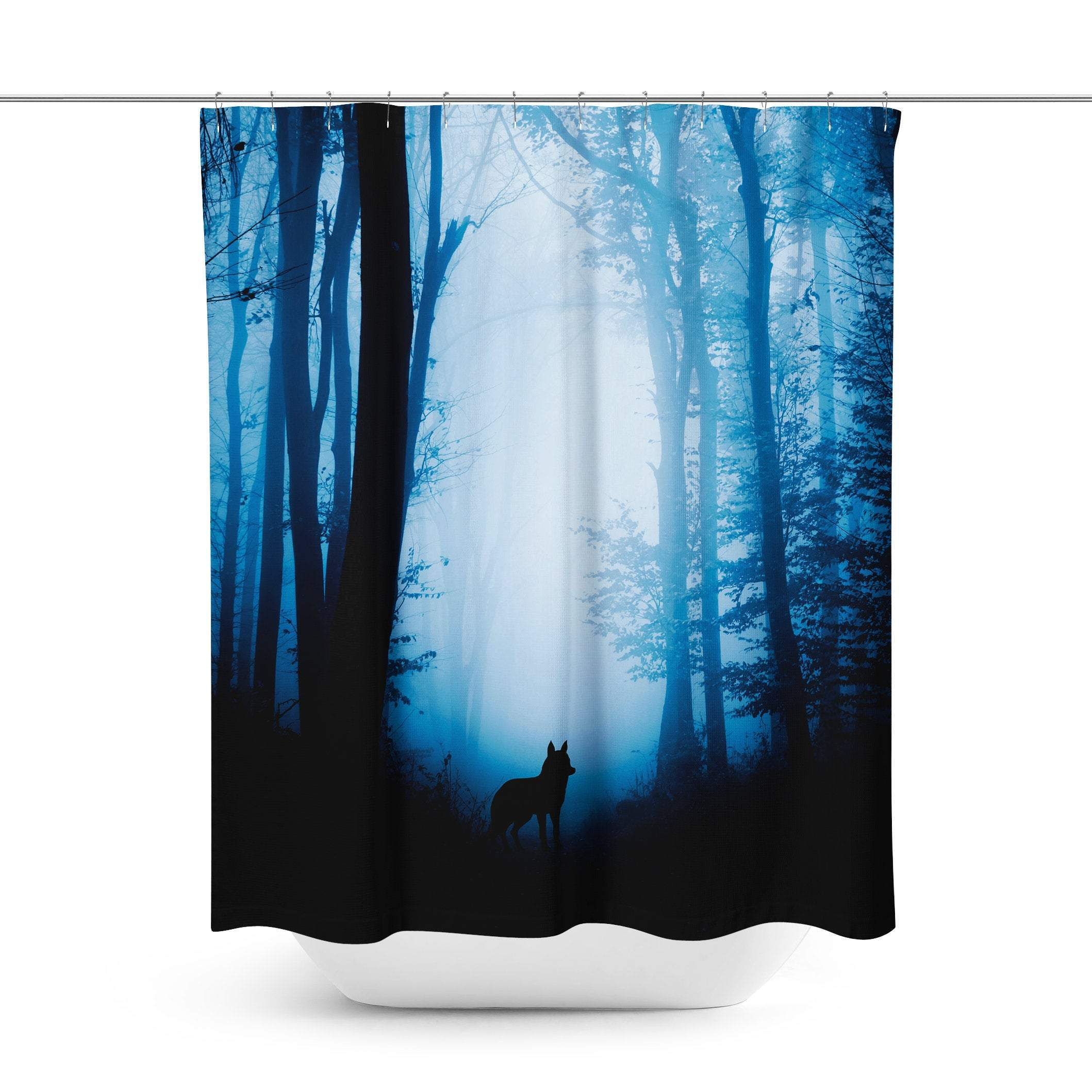 Wolf Shower Curtain Curtains Curtain Shop Wolf