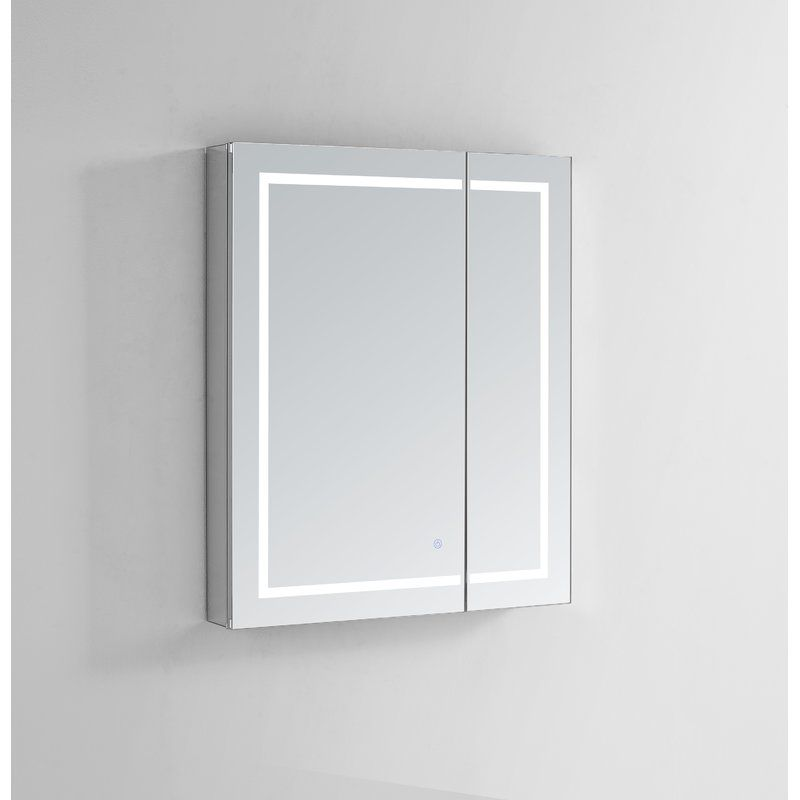 Donnie Recessed Or Surface Mount Frameless Medicine Cabinet With