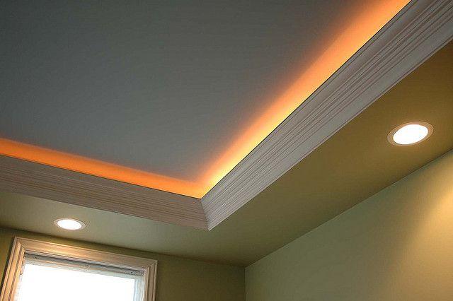 crown molding lights ceiling design