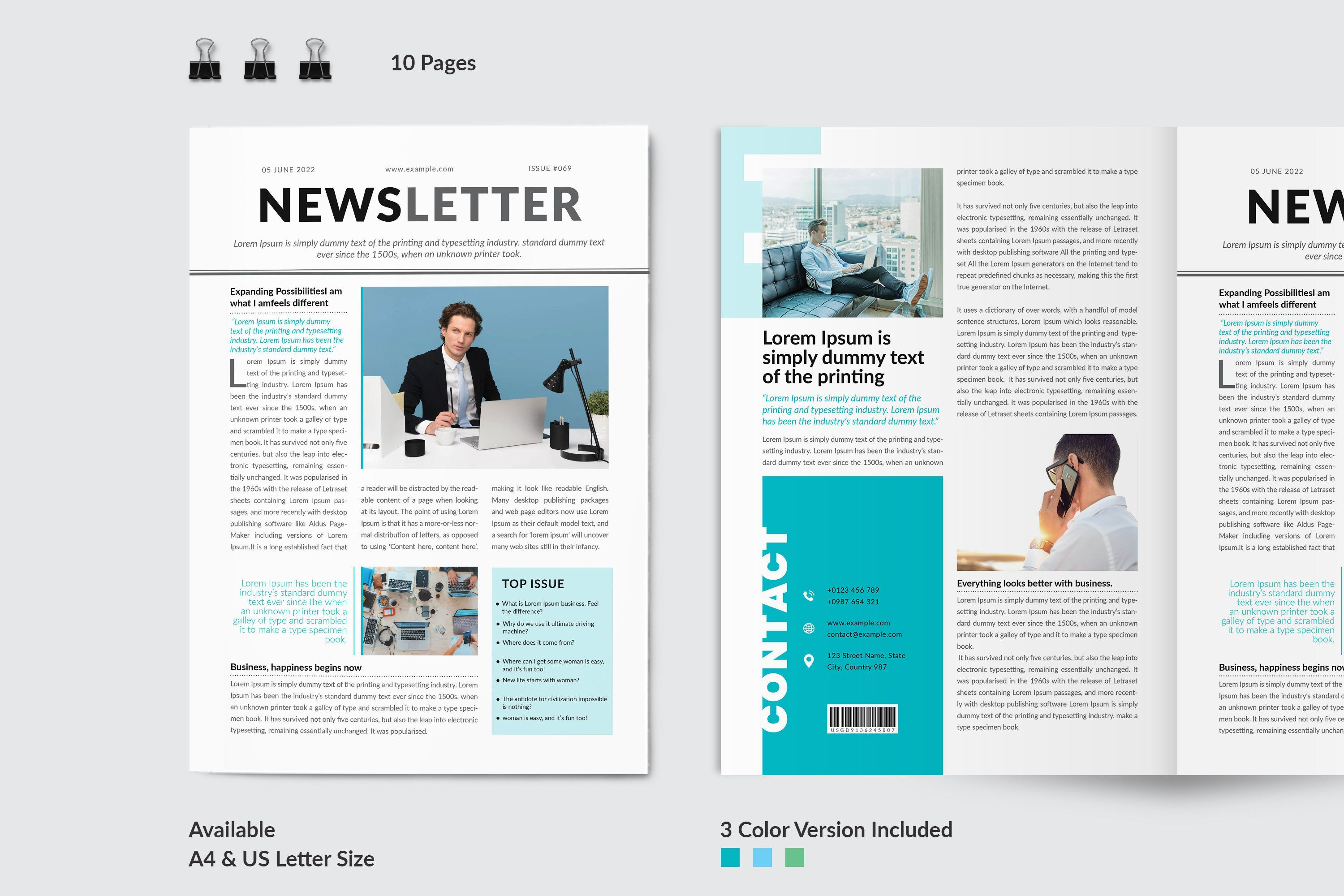 Newsletter Template Weekly Business Journal Corporate Etsy In 2021 Newsletter Templates Newsletter Design Newsletter Design Templates