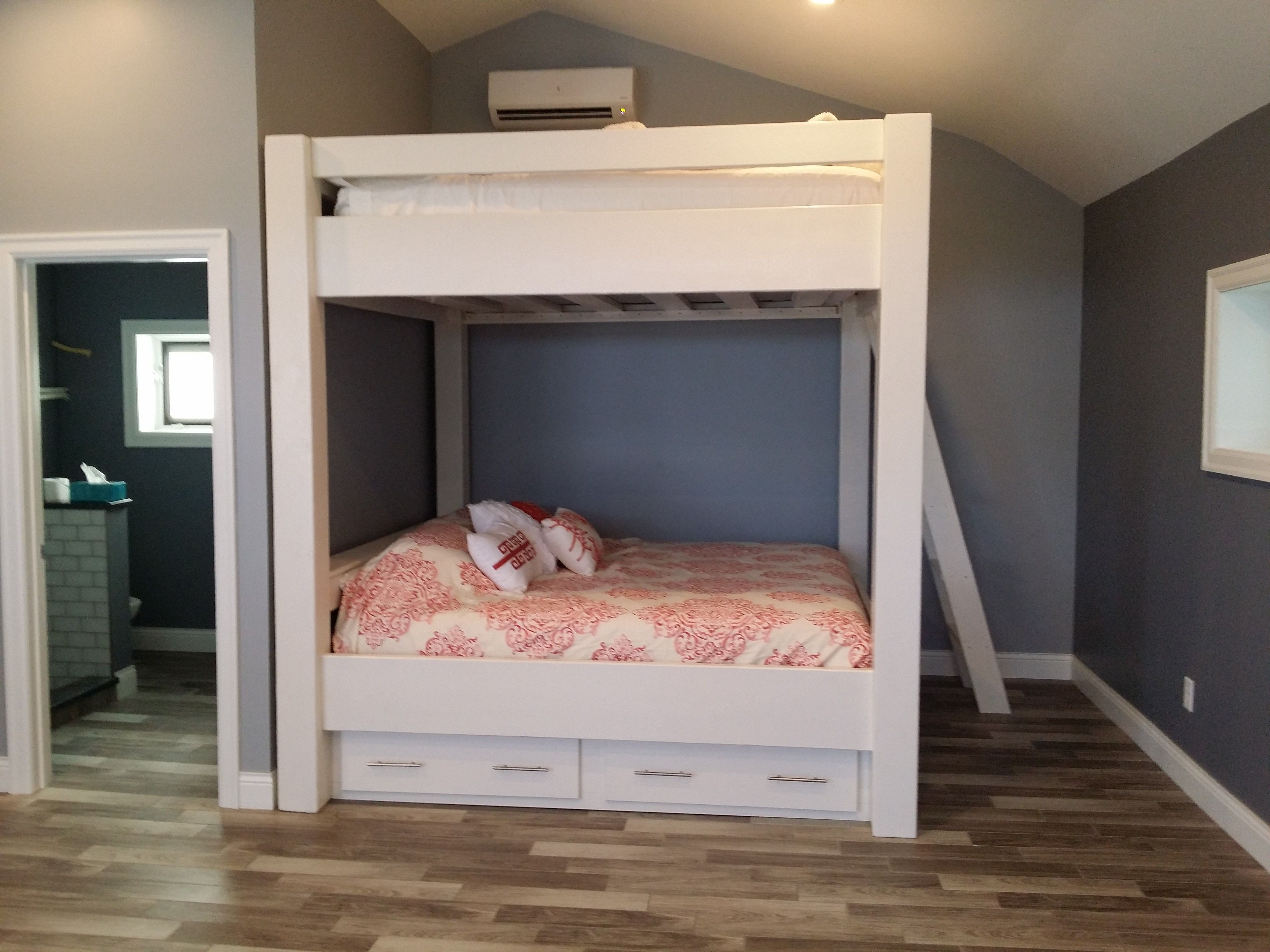 Custom King over King with Lots of headroom, drawers and