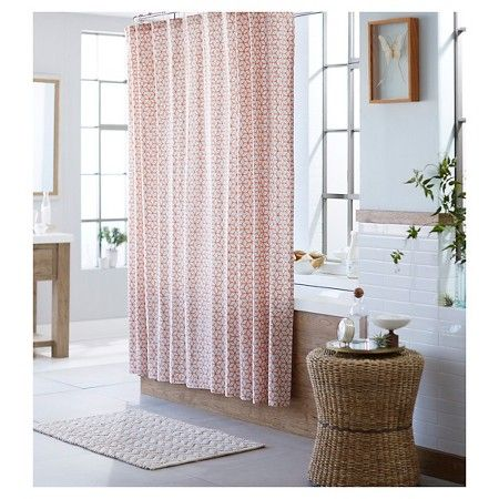 Shapes Shower Curtain Peach