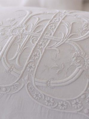 gorgeous linen embroidery