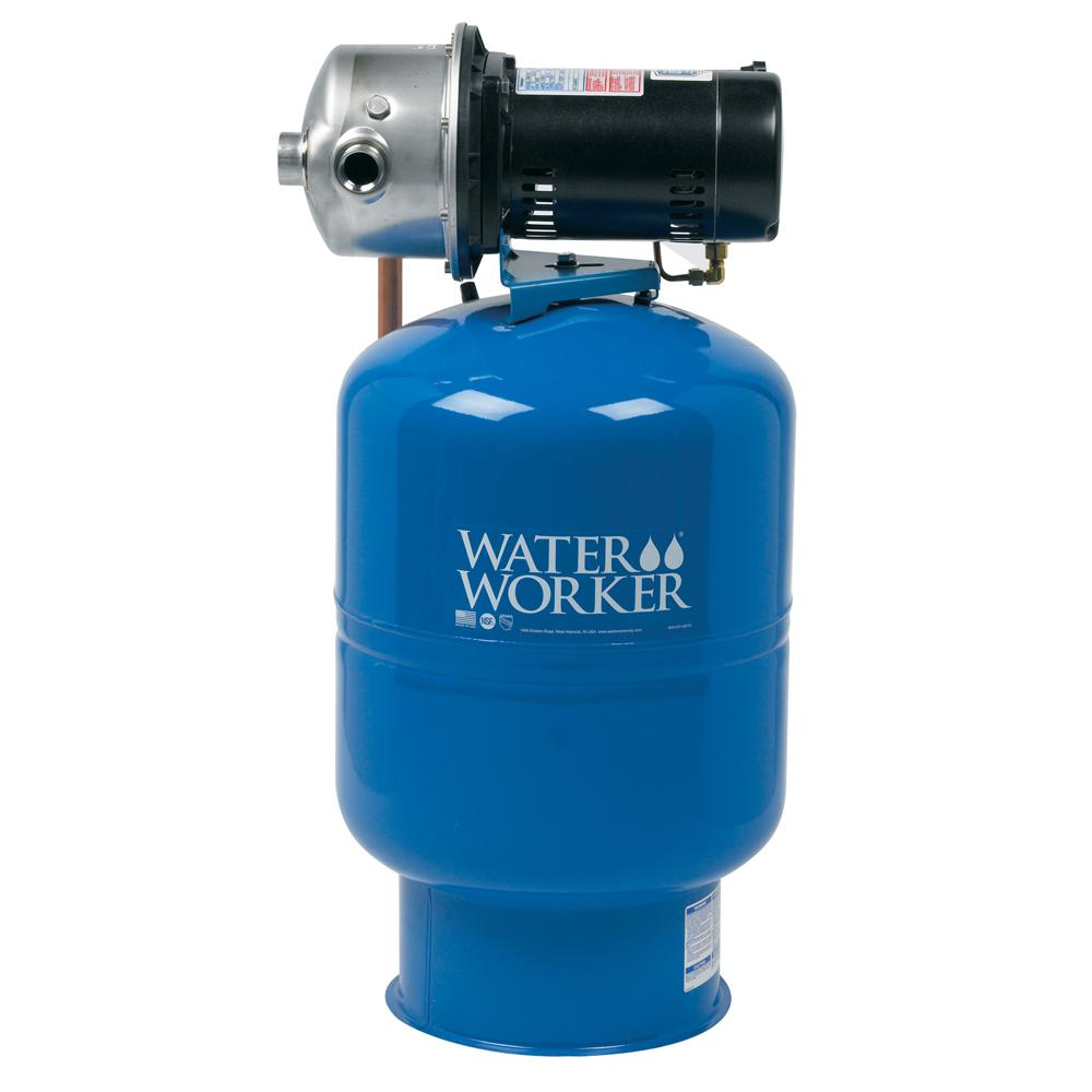Water Worker City Water Pressure Booster System With 14 Gal Well Tank 1 2 Hp Pump And Digital Pressure Control Wwpb10 Well Tank Water Storage Tanks Submersible Sump Pump