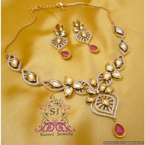 Paisly Kundan & Zircon Necklace