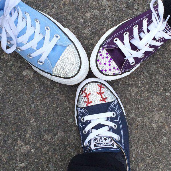 Custom Converse Canada. Blinged Converse Shoes. www
