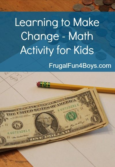 Math Activity for Kids: Learning to Make Change | Math activities ...