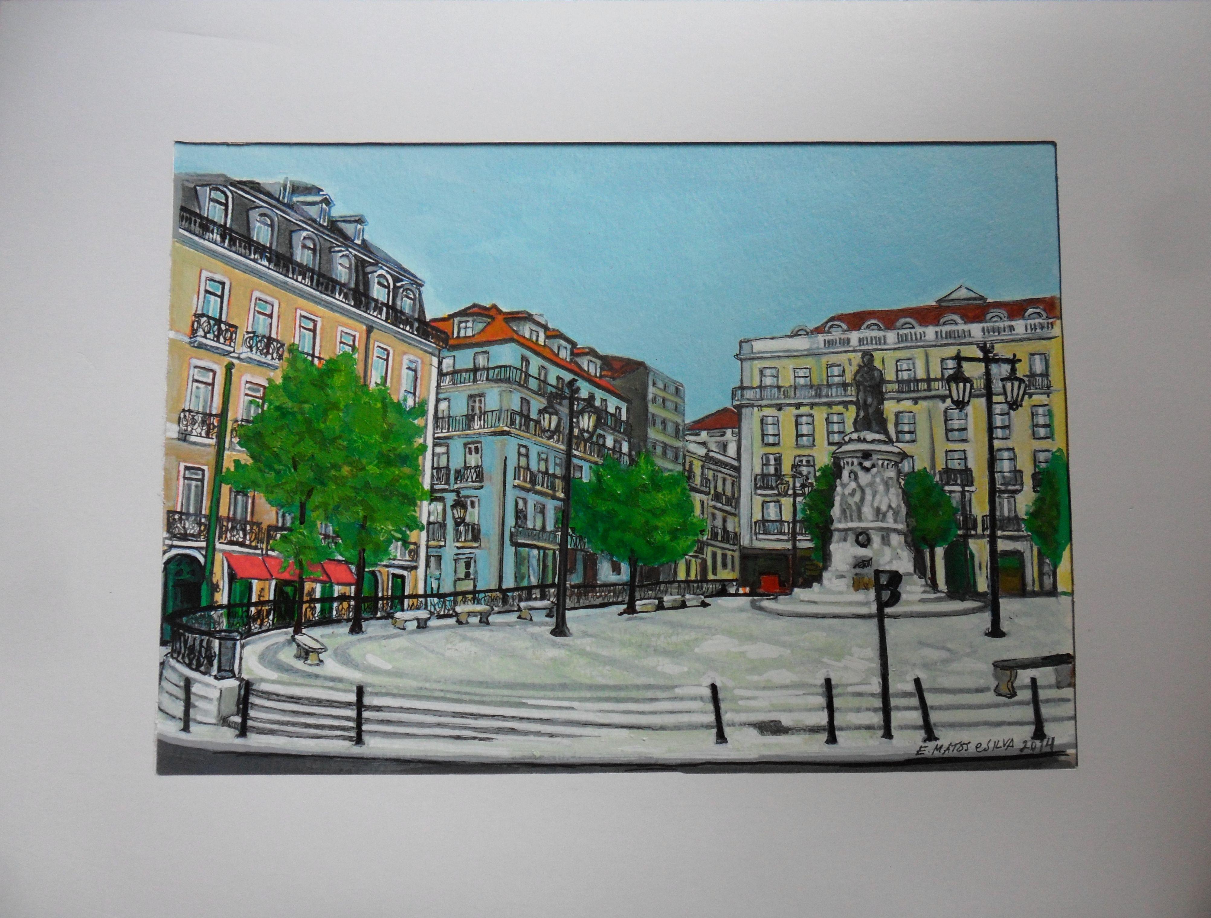 Largo de Camões em Lisboa