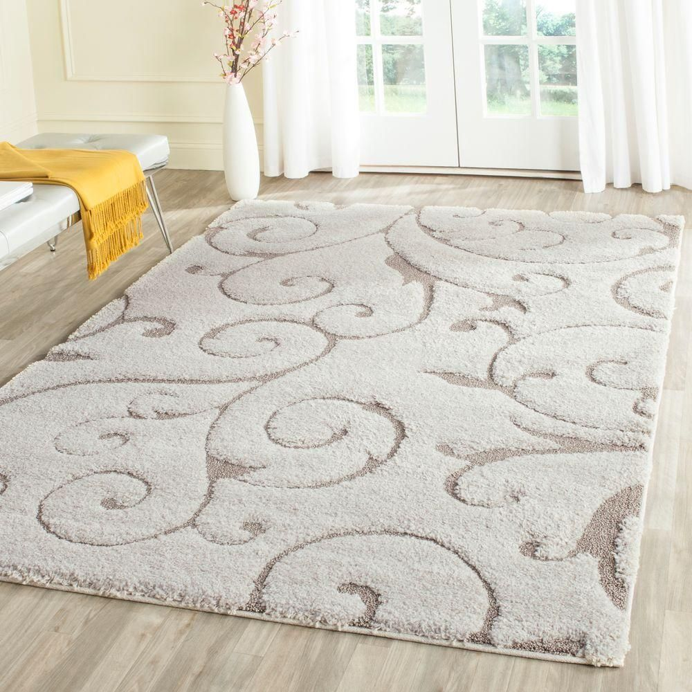 Safavieh Florida Shag Cream Beige 5 Ft X 8 Ft Area Rug Sg455