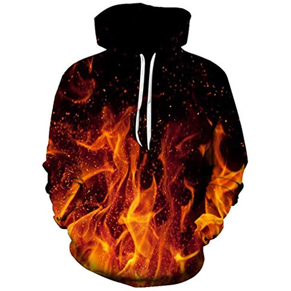 Hommes femmes 3D manches longues à capuche pull sweat-shirt pull-over pull unisexe
