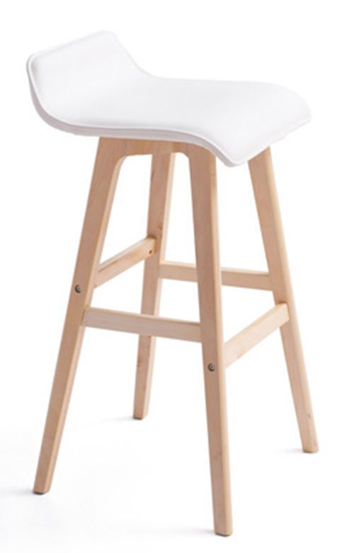 bar stool baby high chair haworth very task seat material pu leather white leg plywood nature
