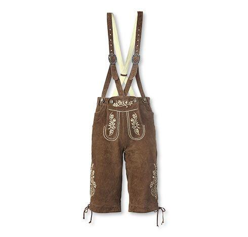 Krátke pánske krojové kožené nohavice