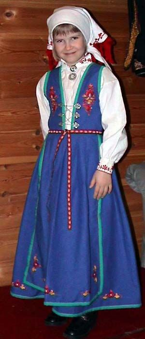 Vest - Telemark blåtøysbunad barn  #barn #kid