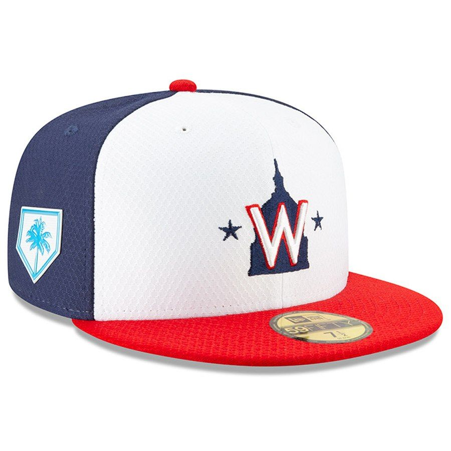 promo code 18e75 e5bf8 Washington Nationals New Era 2019 Spring Training 59FIFTY Fitted Hat – Red  White