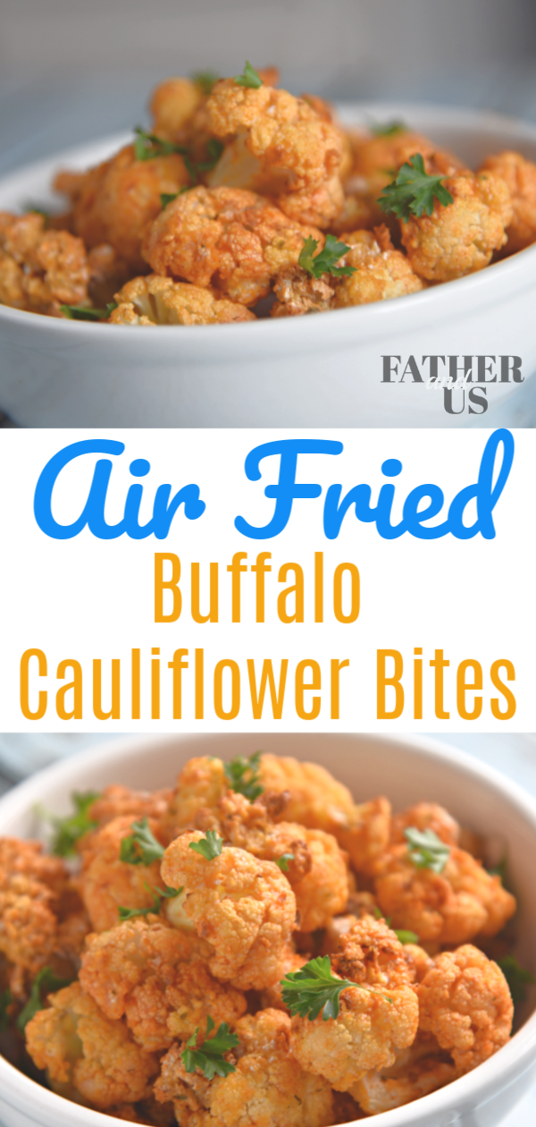 Fryer Buffalo Cauliflower Bites These Air Fryer Buffalo Cauliflower Bites are the perfect thing for a healthy game day snack. They are packed full of flavor but aren't too filling.  So you can eat them well into the 4th quarter.  This is has become one of my favorite Air Fryer recipes.  I coat them with corn starch and panko bread crumbs for that extra crisp.These
