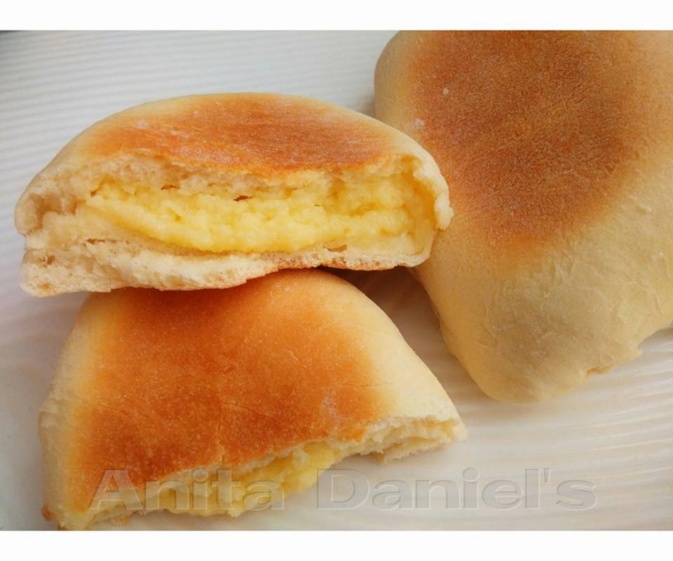 Resipi Roti Kastard Sedap Hanya Bakar Guna Kuali Rasa Food Roti Recipes