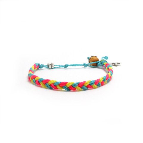Party Braid by ohsoSom Waterproof. Waxed Polyester. Yoga inspired charms.