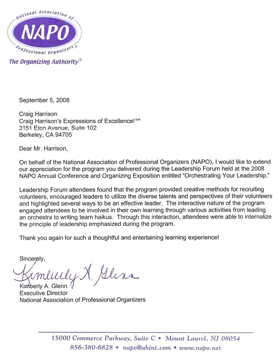 professional reference letter examples